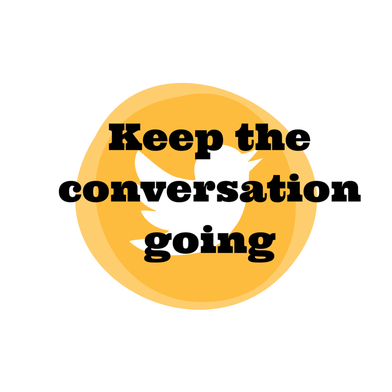 Keep the conversation going