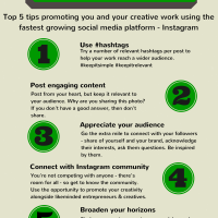 How to Make the Most of Instagram for Creatives (Infographic)