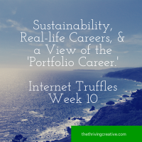 Sustainability, Real-life Careers, plus a view on the 'Portfolio Career.' Internet Truffles Week 10